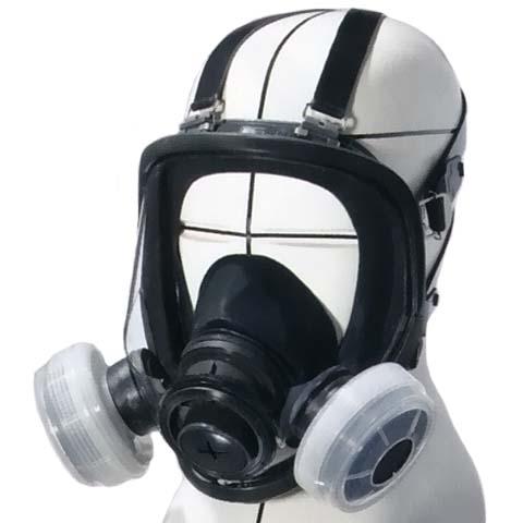 シゲマツ 取替え式防じんマスク(全面形)DR165U2K