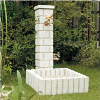 立水栓・水栓柱:ネオキャスティ・セット-オフホワイト[W-095]【あす楽対応不可】【全品送料無料】
