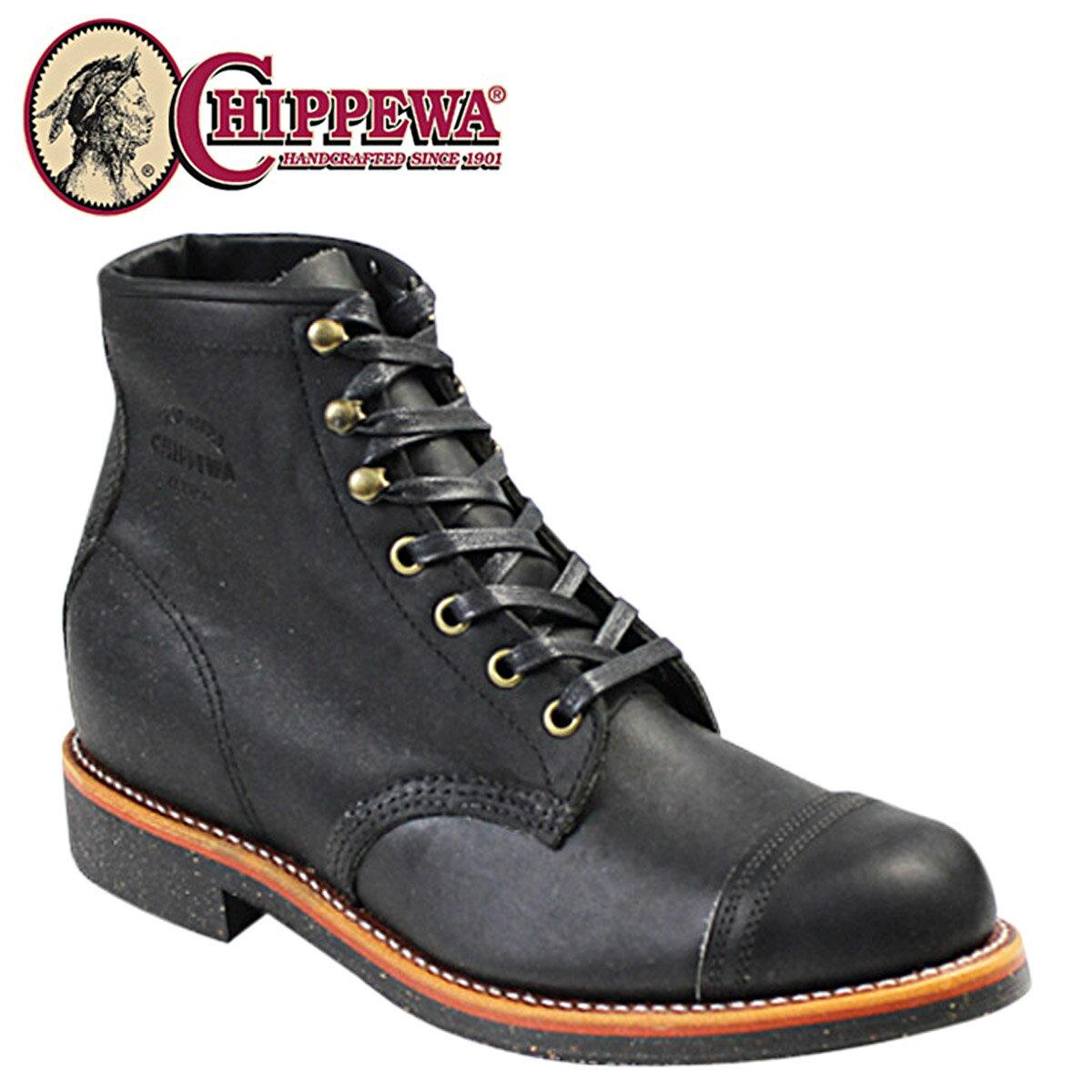 CHIPPEWA チペワ 6INCH HOMESTEAD BOOT 6インチ ホームステッド ブーツ ブラック 1901M31 Dワイズ レザー メンズ [12/15 再入荷] [1712]