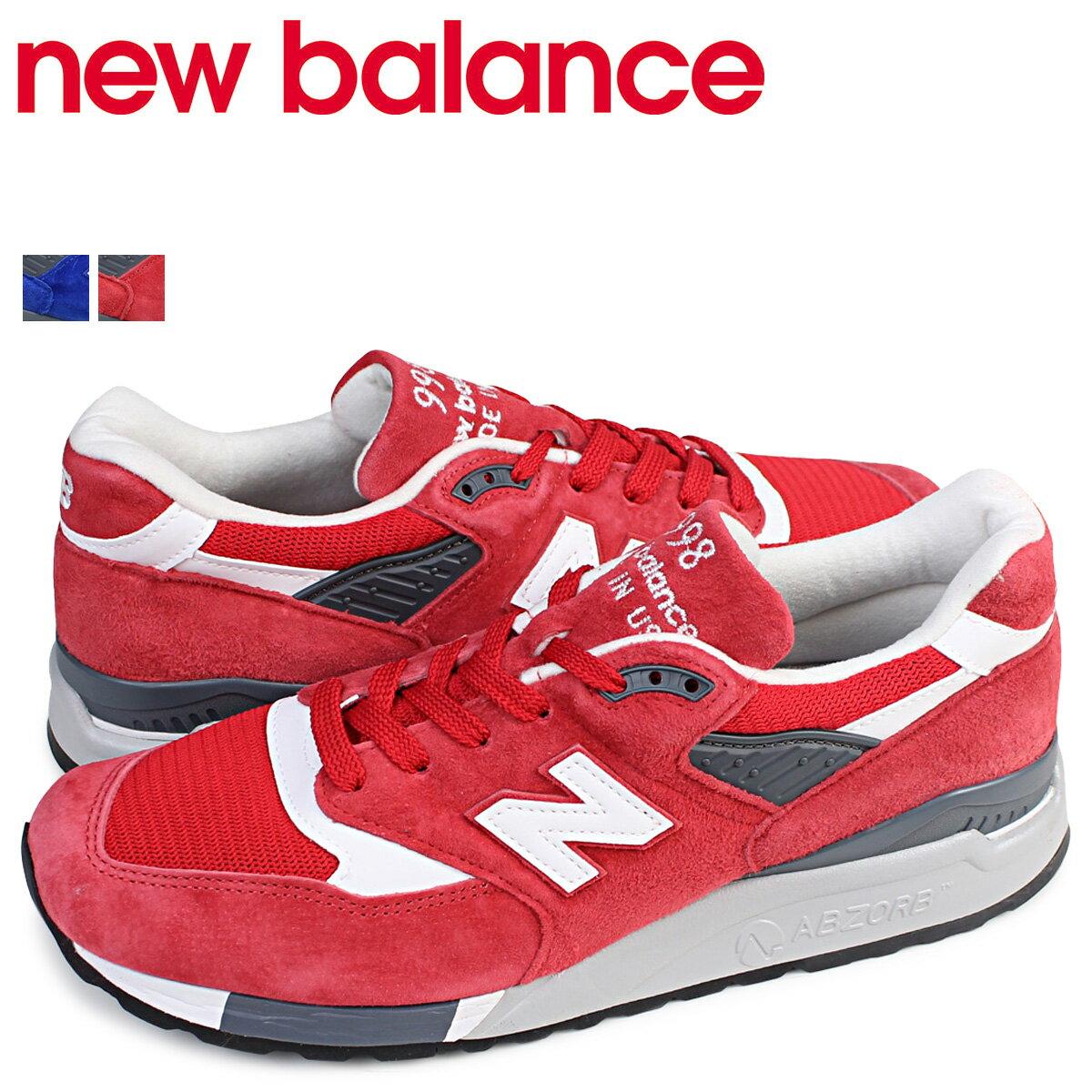 902d095929bad new balance 998 メンズ ニューバランス スニーカー M998CRD M998CBU Dワイズ 靴 レッド [175] 格安sale スタート
