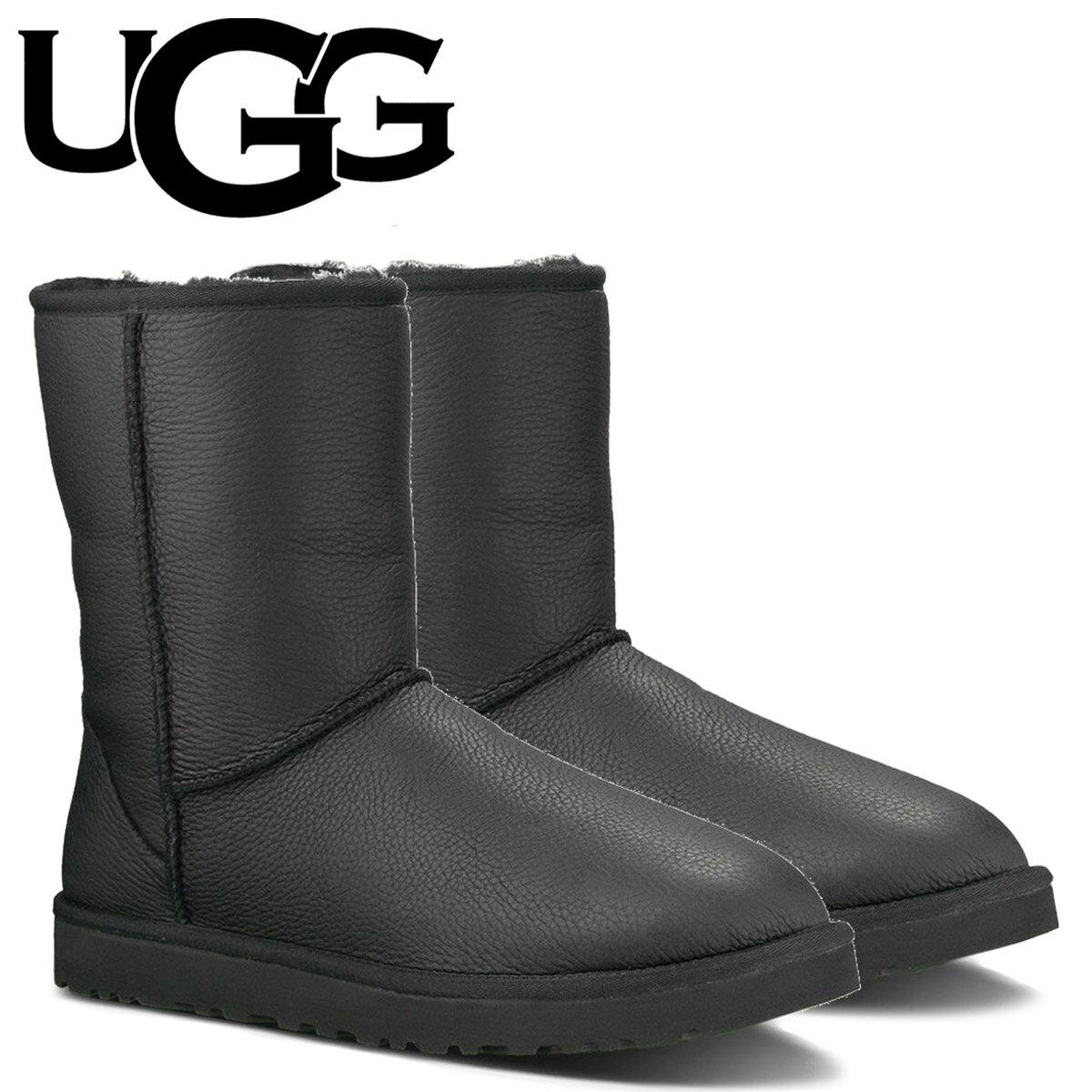 アグ UGG メンズ クラシック ショート ムートンブーツ MENS CLASSIC SHORT 1003944 ブラック