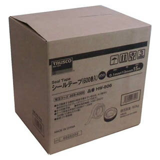 TRUSCO シールテープ15M 600巻入 HW-806