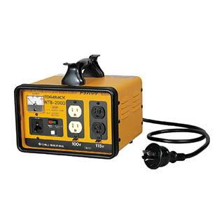 日動 変圧器 降圧専用トラパック 2KVA NTB-200D