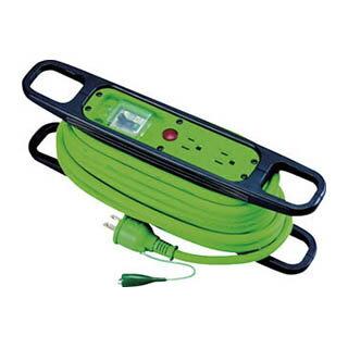 日動 ハンドリール 100V 3芯×10m 緑 アース漏電しゃ断器付 HR-EB102-G