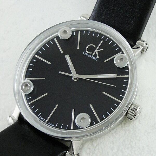カルバンクライン 時計 レディース 腕時計 コージェント ブラックレザー 革ベルト K3B231C1 ビジネス 男性 ブランド 時計 誕生日 お祝い クリスマスプレゼント ギフト お洒落