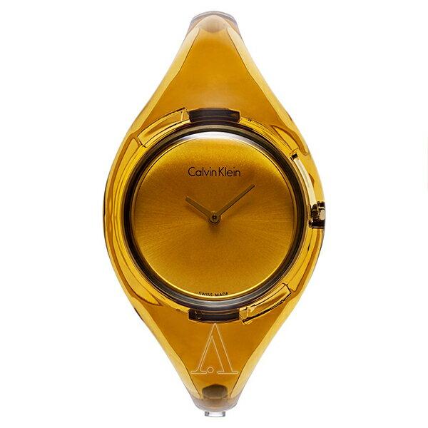 カルバンクライン 時計 レディース 腕時計 PURE ピュア ゴールド スケルトン プラスチック K4W2MXF6 ビジネス 女性 ブランド 時計 誕生日 お祝い クリスマスプレゼント ギフト お洒落