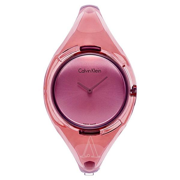 カルバンクライン 時計 レディース 腕時計 PURE ピュア ピンク スケルトン プラスチック K4W2MXZ6 ビジネス 女性 ブランド 時計 誕生日 お祝い クリスマスプレゼント ギフト お洒落