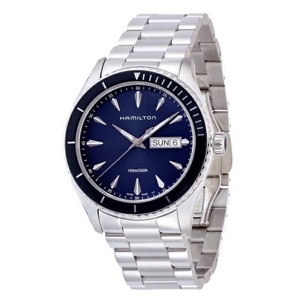 ハミルトン 時計 メンズ 腕時計 ジャズマスター シービュー デイデイト ブルー文字盤 ステンレス H37551141 ビジネス 男性 ブランド 誕生日 お祝い クリスマスプレゼント ギフト お洒落