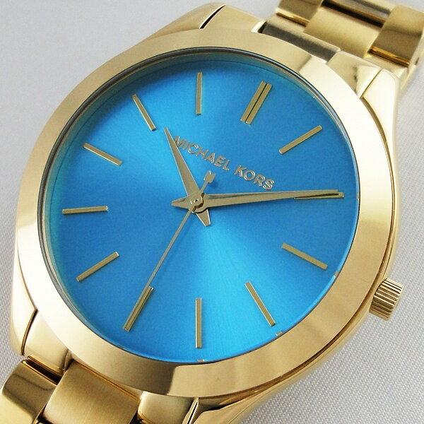 Michael Kors マイケルコース 腕時計 レディース スリムランウェイ ブルー MK3265 可愛い 女性 ブランド 時計 誕生日 お祝い クリスマスプレゼント ギフト お洒落