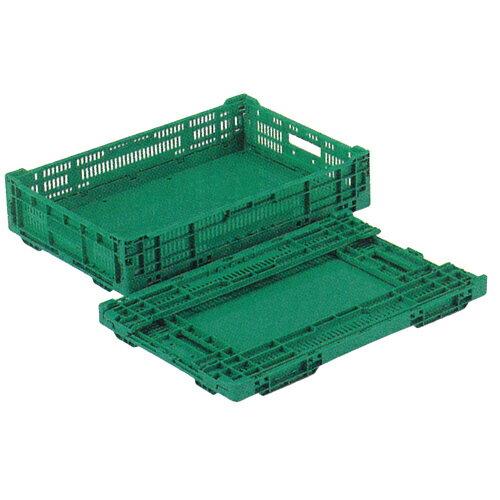 RSコンテナー 緑 RS-BM22 底ベタ長さ599mm×幅394mm×高さ125mm 容量22L10個セット