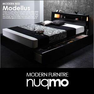 引き出し付き収納付きベッド収納付きベット収納付きベッドModellusモデラスポケットコイルマットレス付シングル