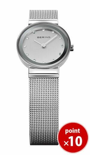 ベーリング BERING レディース 腕時計 10122-000 クラシックカービングメッシュ スワロフスキー SSメッシュベルト 【正規品】【送料無料】