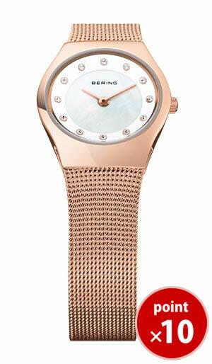 ベーリング BERING レディース 腕時計 11923-366 クラシックカービングメッシュ スワロフスキー SSメッシュベルト 【正規品】【送料無料】