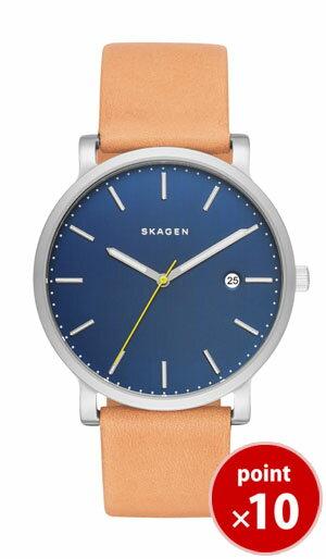 スカーゲン SKAGEN メンズ 腕時計 HAGEN SKW6279 Men's Leather カレンダー ライトブラウンレザーベルト 【正規品】【送料無料】