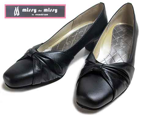 【あす楽】ミッシーマドラス missy madras コンフォートパンプス ブラック【レディース・靴】