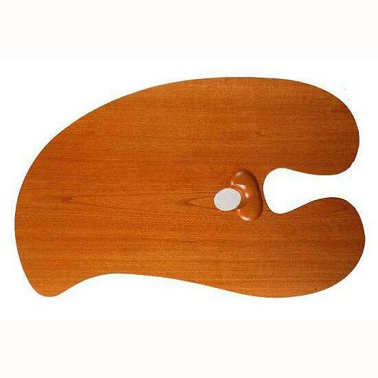 【送料無料】【お取り寄せ品】油彩用 木製パレットホルベイン 専門家用朱利桜製パレットフランゼン型(丸)4号