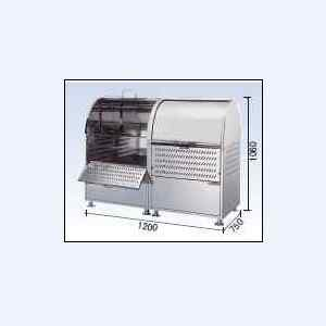 ゴミストッカーCKM-1200R型 連結タイプ (ステンレス製)