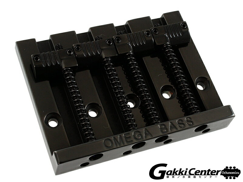 Allparts 4-String Grooved Omega Bass Bridge Black/6077