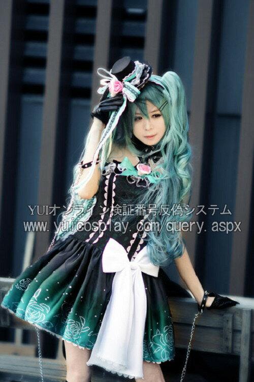 羽翼工作室製 VOCALOID 初音ミク cos夜之女王cosplay コスプレ衣装 Lサイズ