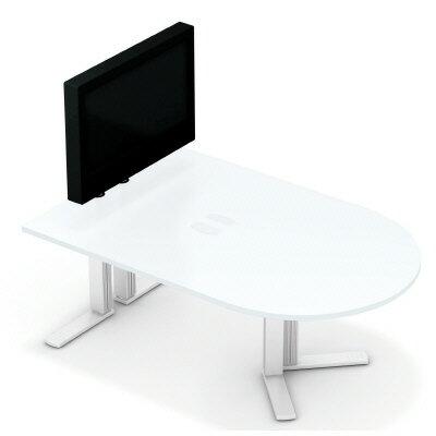 PLUS(プラス)オフィス家具 XF TYPE-L テレビスタンド付ミーティングテーブル W(幅)1800 D(奥行き)1200 H(高さ)1313