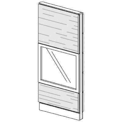 PLUS(プラス)オフィス家具 LFパネル ガラス・木質コンビパネルセット パネル3段 H1625 W(幅)600 D(奥行き)60 H(高さ)1625