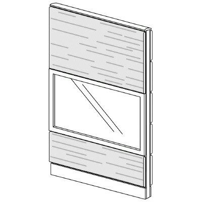 PLUS(プラス)オフィス家具 LFパネル ガラス・木質コンビパネルセット パネル3段 H1625 W(幅)900 D(奥行き)60 H(高さ)1625
