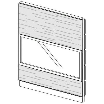 PLUS(プラス)オフィス家具 LFパネル ガラス・木質コンビパネルセット パネル3段 H1625 W(幅)1200 D(奥行き)60 H(高さ)1625
