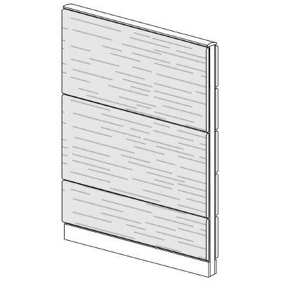 PLUS(プラス)オフィス家具 LFパネル 全面木質パネルセット パネル3段 H1625 W(幅)1000 D(奥行き)60 H(高さ)1625