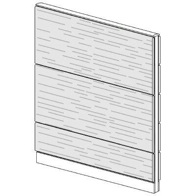 PLUS(プラス)オフィス家具 LFパネル 全面木質パネルセット パネル3段 H1625 W(幅)1200 D(奥行き)60 H(高さ)1625
