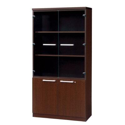PLUS(プラス)オフィス家具 AE 飾戸棚 W(幅)900 D(奥行き)450 H(高さ)1800