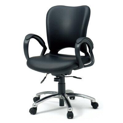 PLUS(プラス)オフィス家具 オーバルシリーズ・マネージャータイプ ハイバック ループ肘 W(幅)597 D(奥行き) H(高さ)