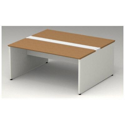 PLUS(プラス)オフィス家具 STAGEO FREE type-W 両面ベースセット W(幅)1600 D(奥行き)1400 H(高さ)720