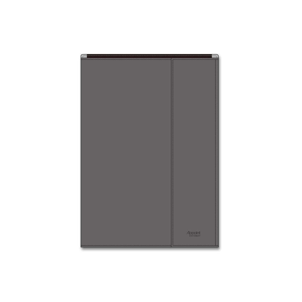 ダイゴー アポイントステーショナリー 手帳カバー B6 包むタイプ グレー N1808 (5セット)