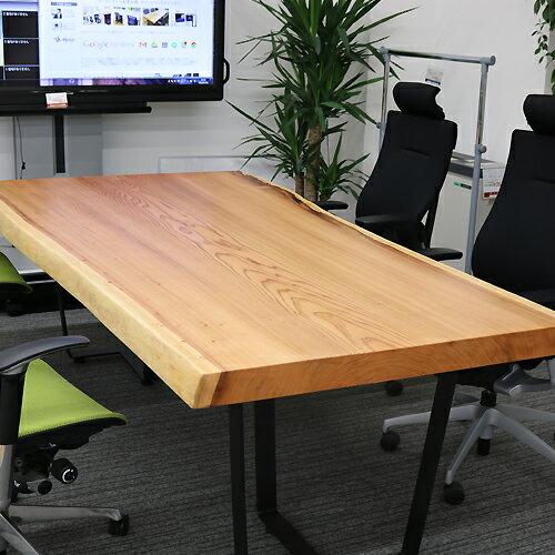 希少 [新入荷]OFFICE PORTAL オリジナル  一枚板テーブル W2260 杉 オフィス向け会議テーブル