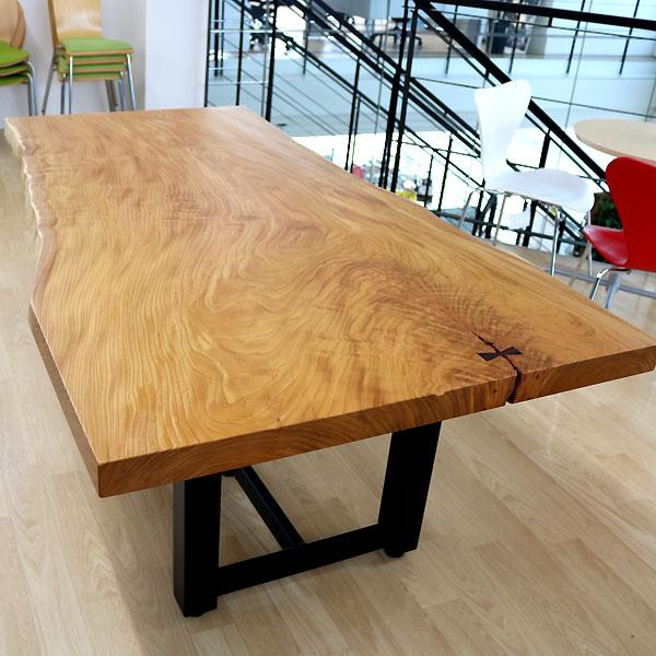 値段が激安 [新入荷]OFFICE PORTAL オリジナル 一枚板テーブル W1900 けやき オフィス向け会議用テーブル 会議テーブル