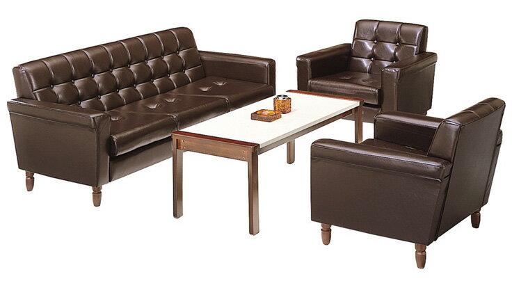 応接セット 3点セット 【 RP-10型 】 ビニールレザー張り 茶色 ( セット内容 計3点 = 長イス1点 + 両肘椅子2点 )
