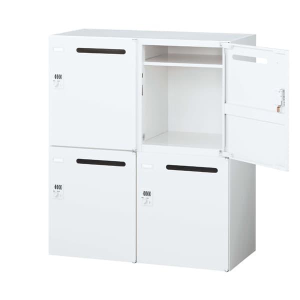 生興 クウォール システム収納庫 メールボックス(パーソナル収納) ダイヤル錠 W900×D400×H1050 RW4-410P-D