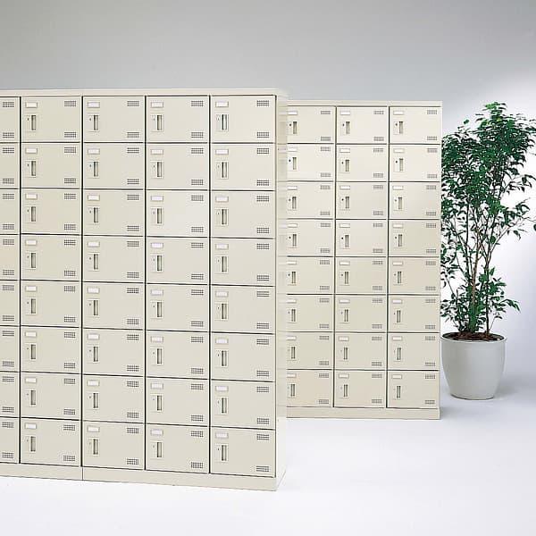 生興 SLBシューズボックス コインリターン錠取っ手 ニューグレー色 4列10段40人用 W1100×D350×H1800 SLB-440-R