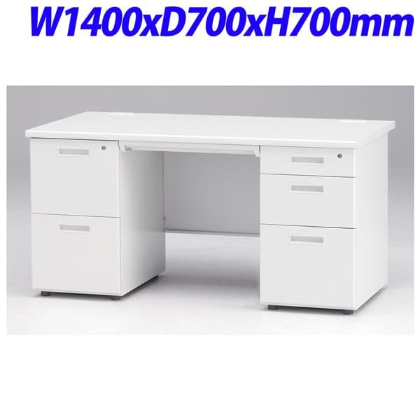 TOKIO FTオフィスデスク 両軸デスク 2段袖+3段袖 W1400×D700×H700mm FTS-1400W-32W