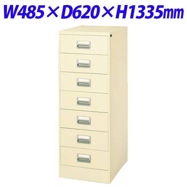 ライオン事務器 カードキャビネット W485×D620×H1335mm アイボリー B6-27N 452-35