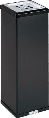 【テラモト】消煙灰皿 黒 W210×D210×H570mmSS-255-000-6