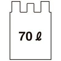 とって付ごみ袋 半透明 70L 10枚 30組【日本技研】CG-71