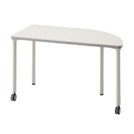 【PLUS】多目的テーブル KTシリーズ 四半円角タイプ KT-1260QC<ホワイト、メープル>【プラス】 10P03Sep16
