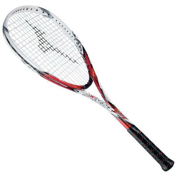 ミズノ ジスト T1 ソフトテニスラケット 63JTN521-62 (レッド×ホワイト)