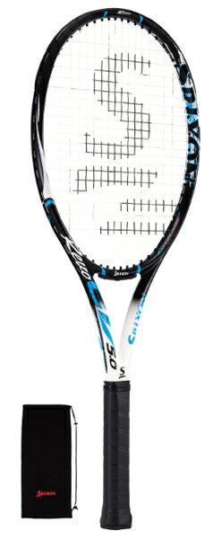 スリクソン レヴォ CV 5.0 硬式テニスラケット SR21603 (ブラック×イエローブルー)