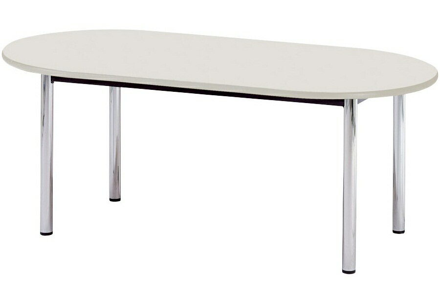 【受注生産品】会議テーブル 楕円型・四本脚 幅1800×奥行1200×高さ700mm [BZ-1812R]