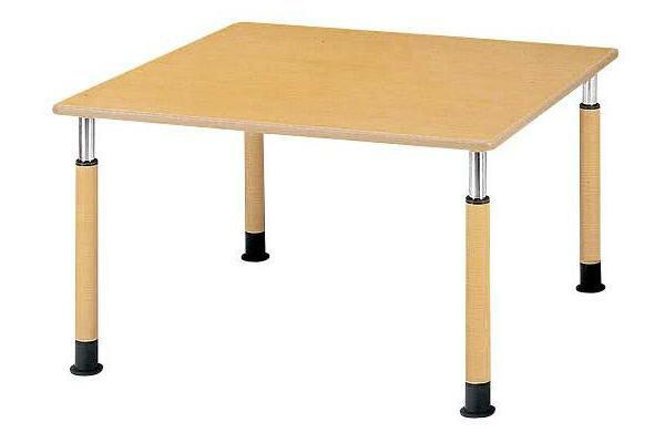 福祉施設用テーブル ラチェット式高さ調節 角型 幅1200×奥行1200×高さ600-800mm [FPS-1212K]