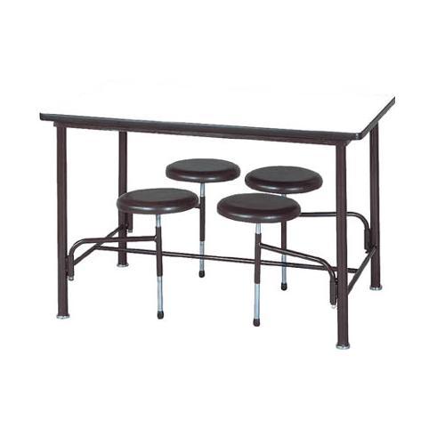 【受注生産品】食堂テーブル 自動復元式 W1200×D750×H750mm 4人掛背なし [STM-1275]