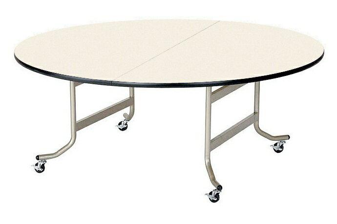【受注生産品】天板折りたたみ式テーブル 丸型 直径1200×高さ700mm 【OS-1200RS】