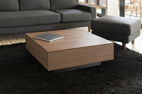 MKマエダ リビングテーブル ローテーブル ウォールナット ホワイト(引出し収納付き) テーブル モダン シンプル ローテーブル テーブルのみ